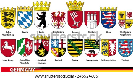 German Countries - stock vector