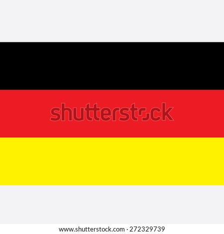 German Flag - stock vector