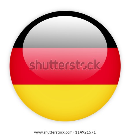 German flag button on white - stock vector