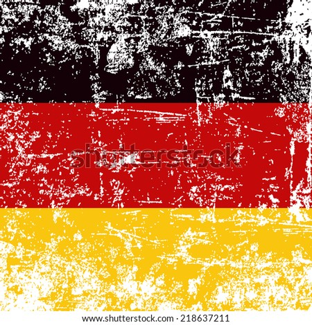 german flag grunge effect - stock vector