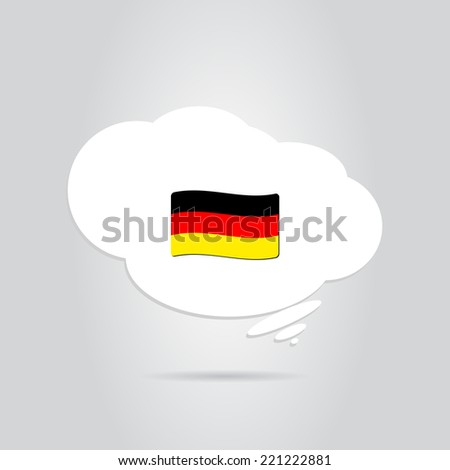German flag in the cloud. Made in vector - stock vector