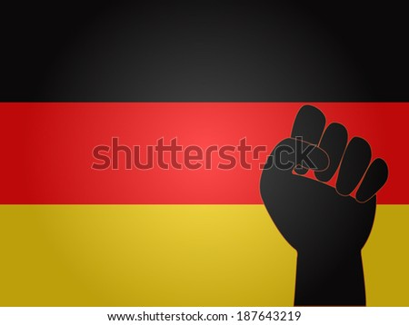 German Flag with Protest Sign EPS10 - stock vector