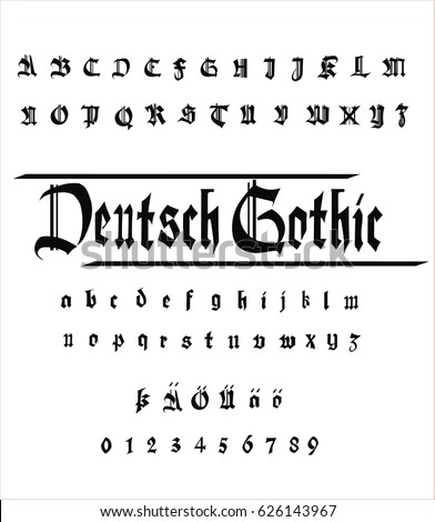 German Gothic Alphabet Font