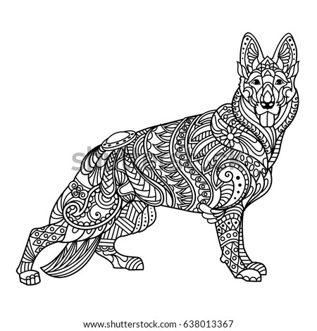 German Shepherd Coloring Book Adults