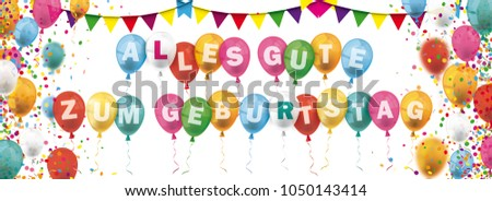 german text alles gute zum geburtstag translate happy birthday eps 10 vector file