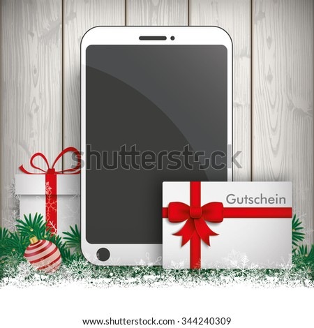 "German text ""Gutschein"", translate ""Coupon"". Eps 10 vector file. - stock vector"