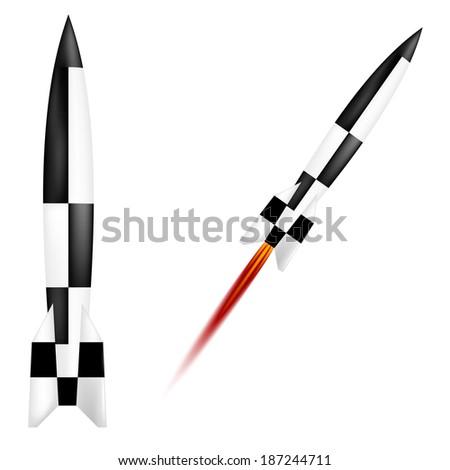 German V-2 rocket - stock vector