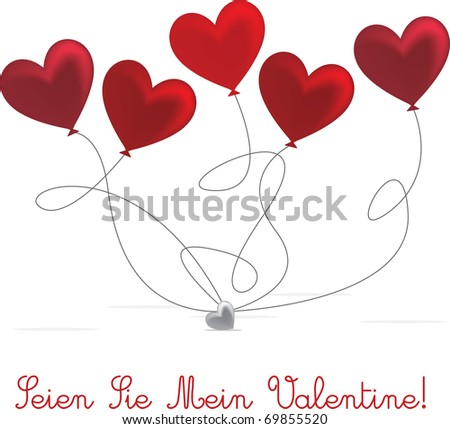French Valentines Day Card Design Vector 69855526 Shutterstock – German Valentines Day Cards