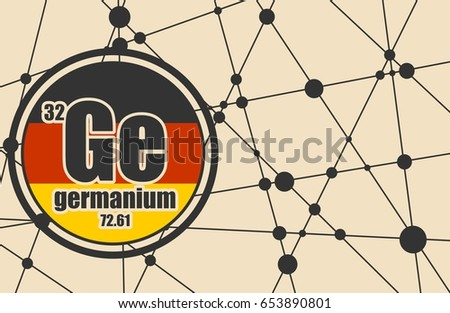 a survey of the chemical element germanium Germanium has little or no effect upon the environment because it usually occurs only as a trace element in ores and carbonaceous materials and is used in very small quantities in commercial applications.