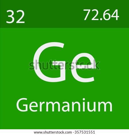 Germanium Chemical Symbol Stock Vector 357531551 Shutterstock