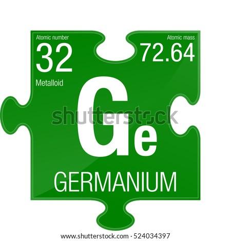 Germanium Symbol Element Number 32 Periodic Stock Vector 524034397