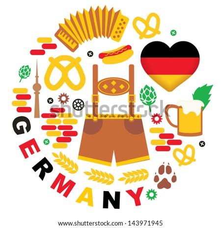 Germany - stock vector
