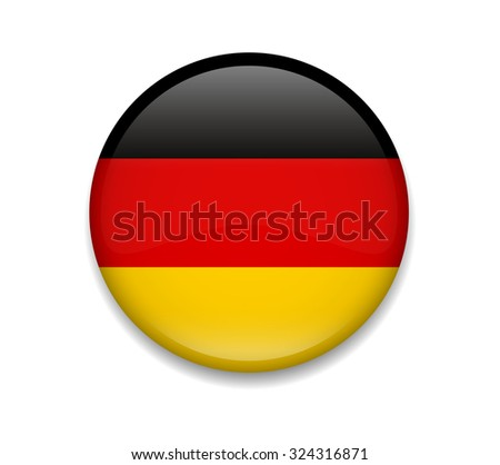 Germany Button Flag - stock vector