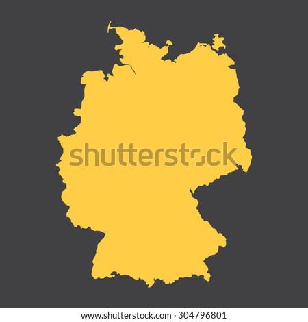 Germany,Deutschland country border,map. Vector EPS8 - stock vector