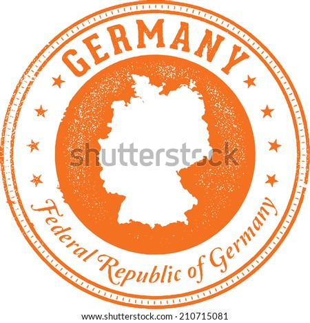 Germany European Country Stamp - stock vector