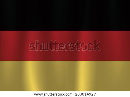 Germany flag, flag of Germany, curtain satin wave flag vector - stock vector