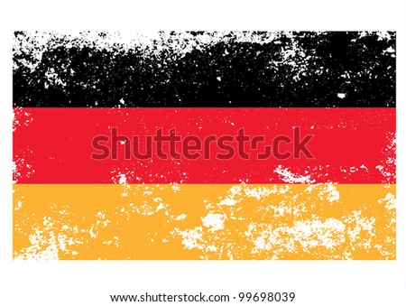 Germany flag in grunge. Vector. - stock vector