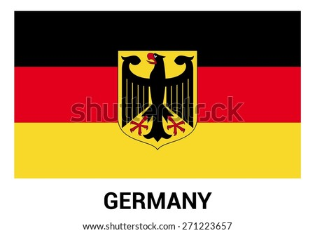 Germany Flag Isolated Vector Official Colors Stock Vector 2018