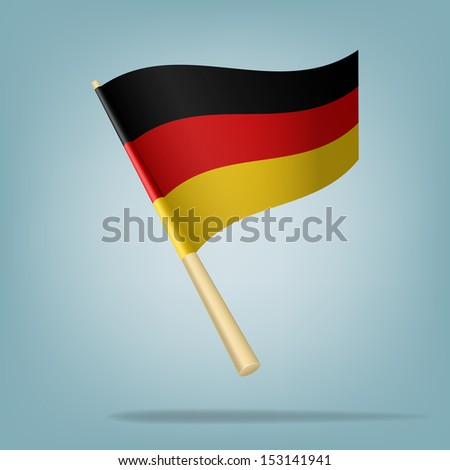 Germany flag, vector illustration - stock vector