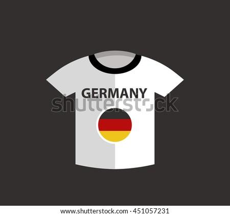Germany Football Shirt - stock vector
