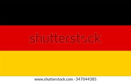 Germany; German Flag vector image   - stock vector
