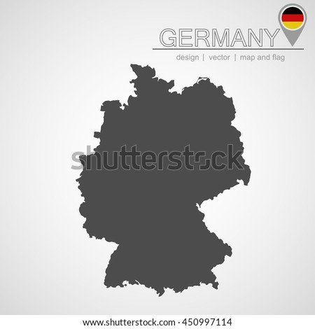 Germany Map Location Germany Flag Application Stock Vector - Germany map location