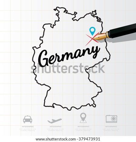 Germany map Infographic - stock vector