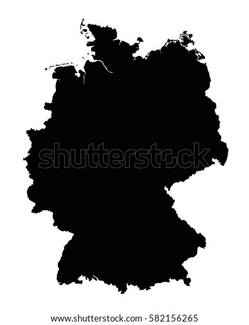 Germany Map Outline Vector Flag Stock Vector Shutterstock - Germany map vector