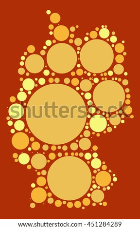 Germany Map Shape Vector Design By Stock Vector - Germany map shape