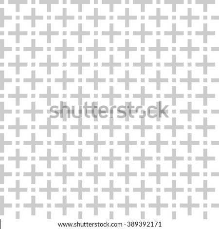 gery color  fashion prints patterns made with '+' plus sign - stock vector