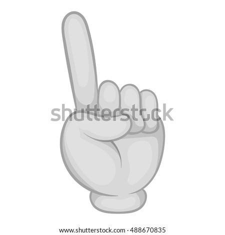 Gesture thumb up icon in black monochrome style isolated on white background. Gesticulation symbol vector illustration