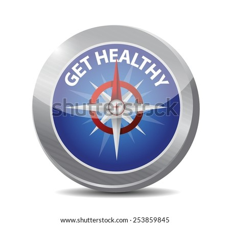 get healthy compass illustration design over a white background