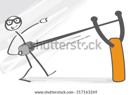 Get off to a flying start - stock vector