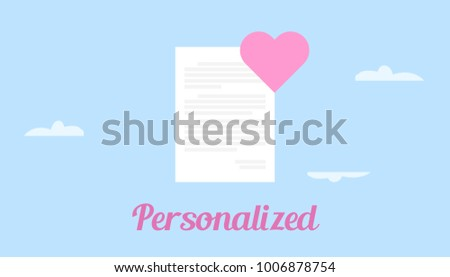 Get personalized love letter illustration white stock vector get personalized love letter illustration with white paper and pink love symbol spiritdancerdesigns Choice Image
