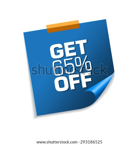 Get 65 Precent Off Blue Sticky Notes Vector Icon