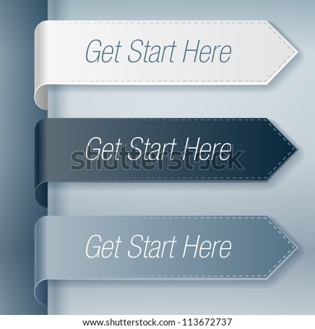 Get start here stickers set