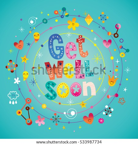 Get well soon greeting card stock vector 533987734 shutterstock get well soon greeting card m4hsunfo