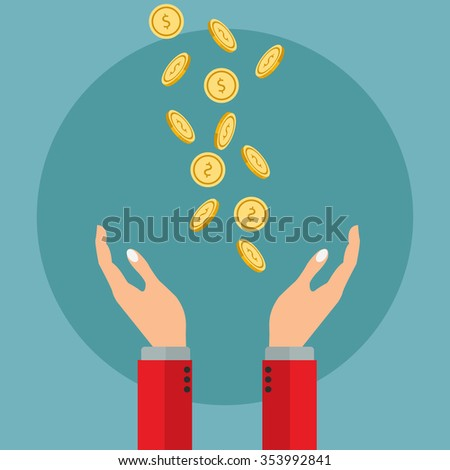 Getting money, payment or valuing money, saving vector concept - stock vector