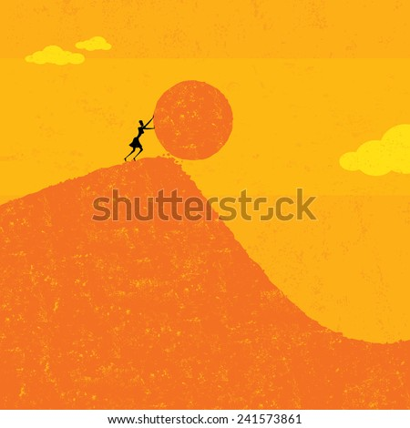 Getting the ball rolling - stock vector