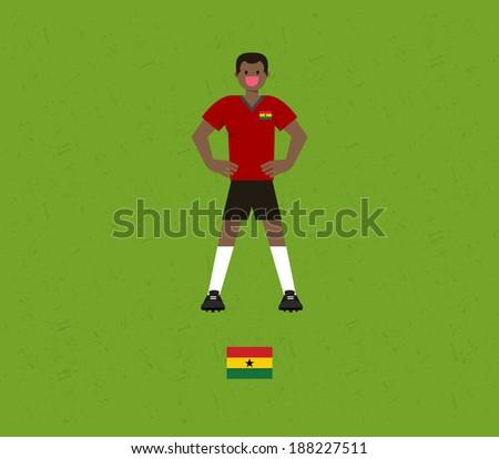 Ghana Soccer Tables  - stock vector