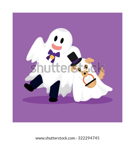 Ghost Costume - stock vector