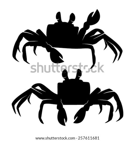 Ghost Crab Silhouettes - stock vector