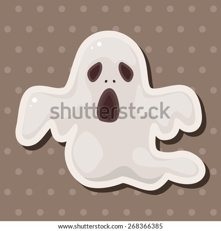 ghost theme elements  - stock vector