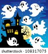 Ghost theme image 2 - vector illustration. - stock vector