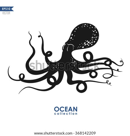 octopus silhouette stock images, royalty-free images & vectors
