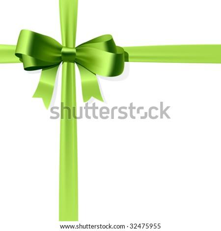 Gift bow. Vector. - stock vector