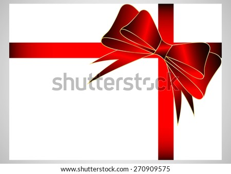 Gift bow with red ribbons - stock vector