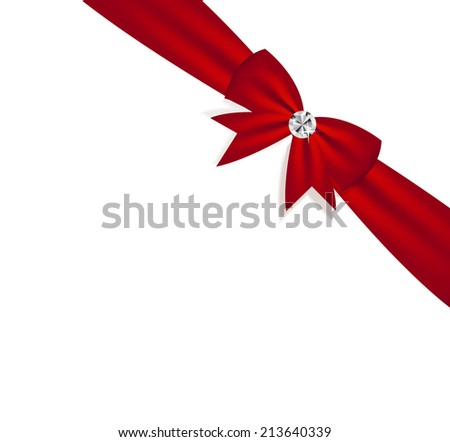 Gift Bow with Ribbon. Vector Illustration. EPS 10. - stock vector