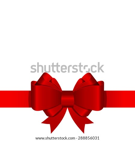 Gift Bow with Ribbon Vector Illustration EPS10 - stock vector