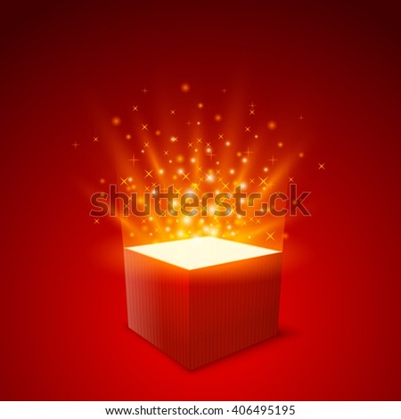Gift box background. Vector illustration - stock vector